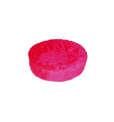 Hundebett plüsch einfarbig pink
