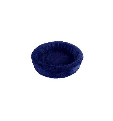 Hundebett plüsch einfarbig blau