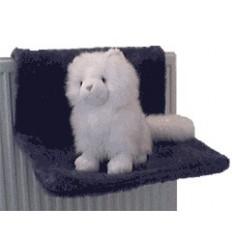 Katzenhängematte aus Plüsch (grau)