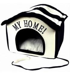 """Katzenhaus / Hundehaus """"My Home"""" beige/schwarz"""