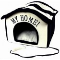 Huisje My Home zwart/creme